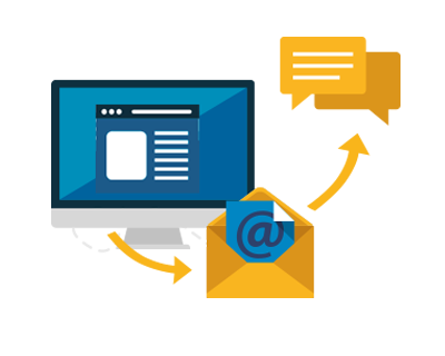 Integration of sms with existing email functions